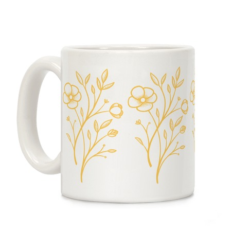 Wildflower Stippled Tattoo Coffee Mug