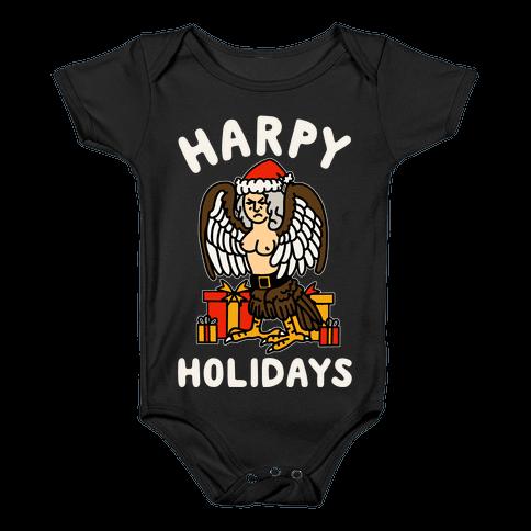 Harpy Holidays Baby Onesy