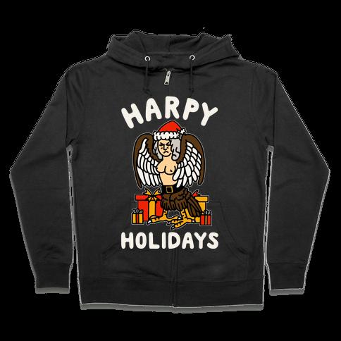 Harpy Holidays Zip Hoodie