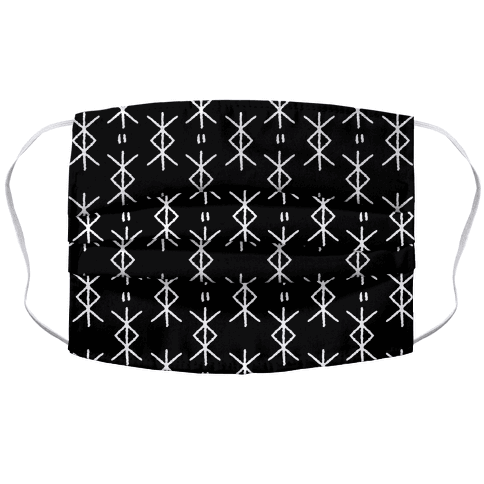 Protection Rune Accordion Face Mask