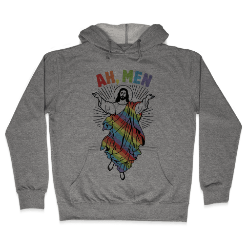 AH, Men Gay Jesus (CmYK) Hooded Sweatshirt