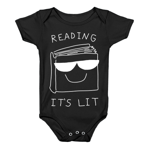 Reading It's Lit Baby Onesy