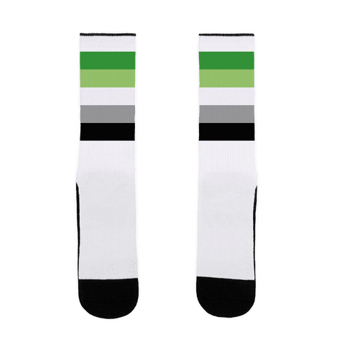 Aromantic Pride Flag Sock