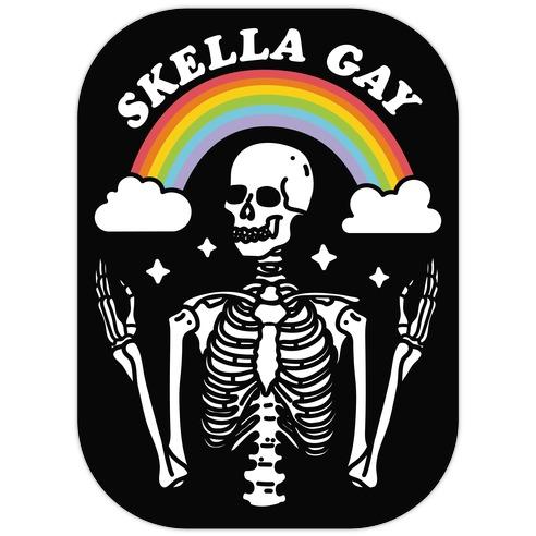 Skella Gay Skeleton Die Cut Sticker