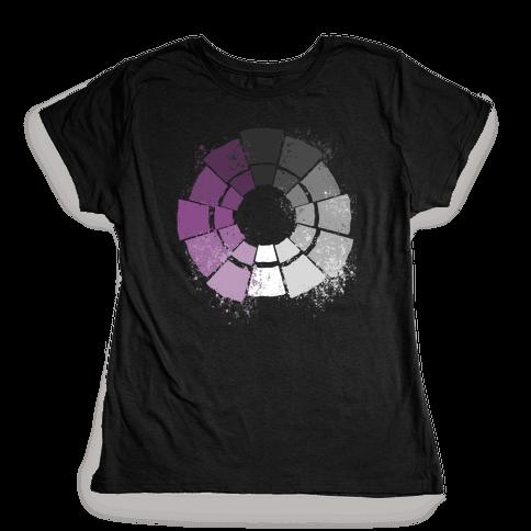 Ace Pride Color Wheel Womens T-Shirt