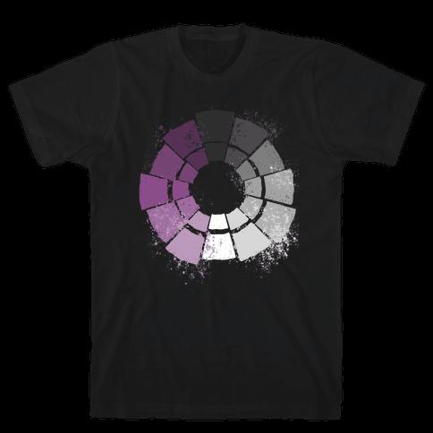Ace Pride Color Wheel Mens/Unisex T-Shirt