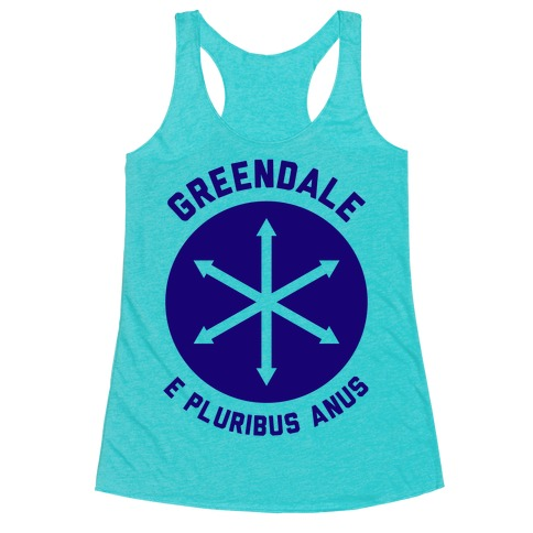 Greendale E Pluribus Anus Racerback Tank Top