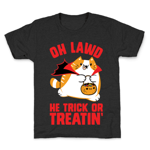 Oh Lawd He Trick Or Treatin' Kids T-Shirt