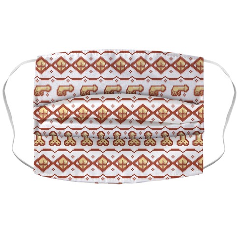 Dicks and Butts Ugly Sweater Pattern Accordion Face Mask