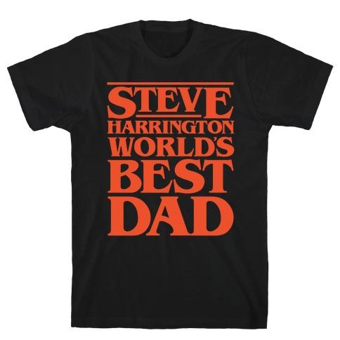Steve Harrington World's Best Dad Parody White Print T-Shirt