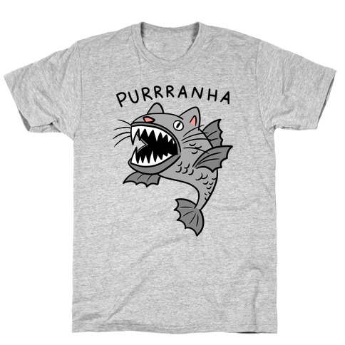 Purrranha Cat Piranha Mens/Unisex T-Shirt