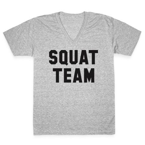 Squat Team V-Neck Tee Shirt