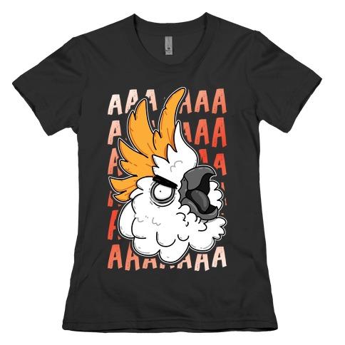 Screaming Cockatoo Womens T-Shirt