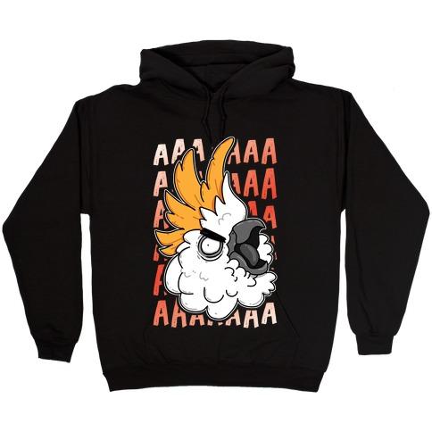 Screaming Cockatoo Hooded Sweatshirt