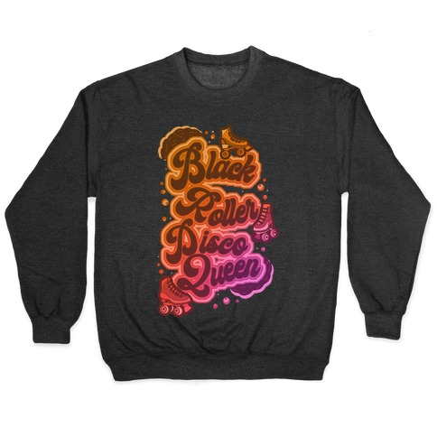 Black Roller Disco Queen Pullover