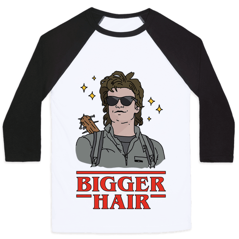 Bigger Hair Baseball Tee