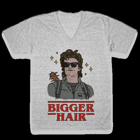 Bigger Hair V-Neck Tee Shirt