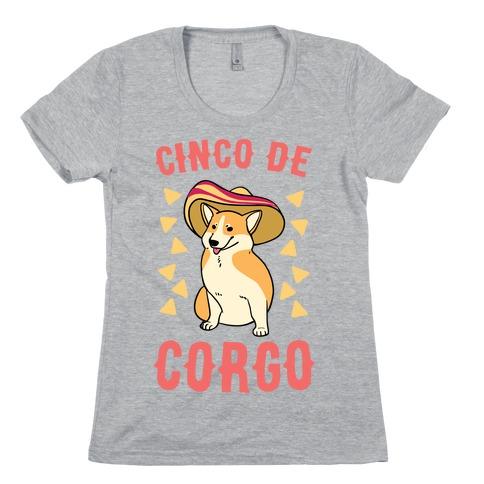 Cinco De Corgo Womens T-Shirt
