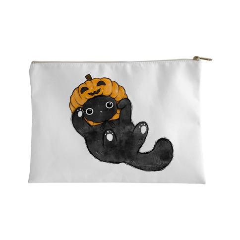 Halloween Pumpkin Cat Accessory Bag
