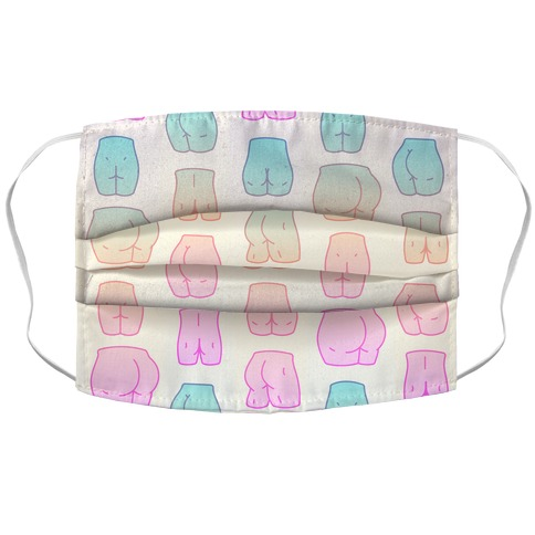 Kawaii Pastel Butt Pattern Face Mask