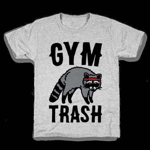 Gym Trash Raccoon  Kids T-Shirt