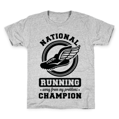 National Running Away From My Problems Champion Kids T-Shirt