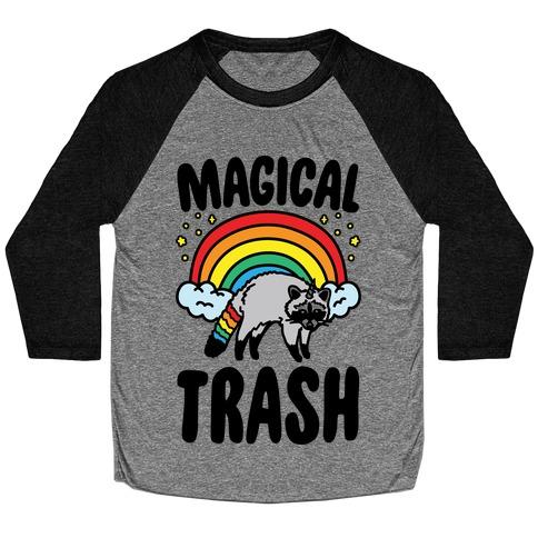 Magical Trash Raccoon Baseball Tee