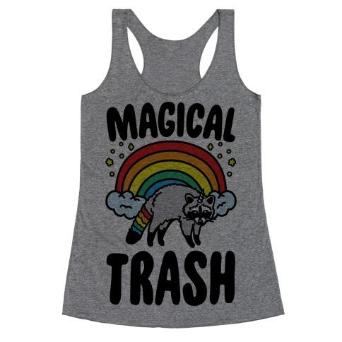 Magical Trash Raccoon Racerback Tank Top