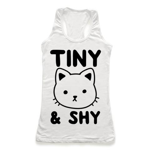 Tiny & Shy Cat Racerback Tank Top