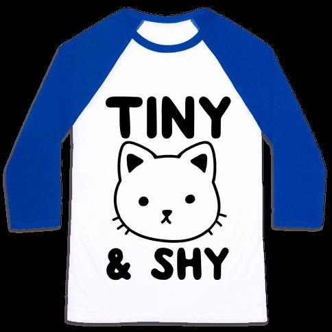 Tiny & Shy Cat Baseball Tee
