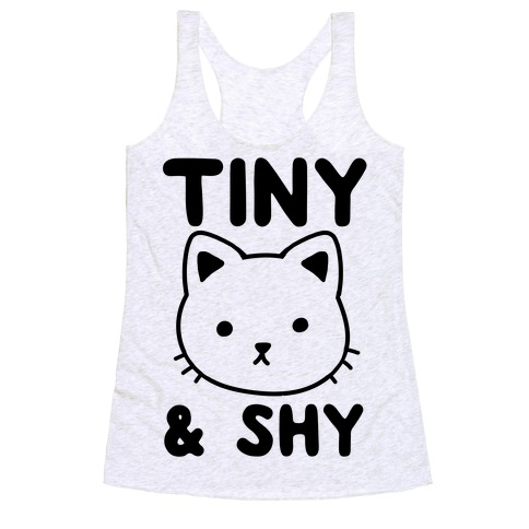 Tiny & Shy Cat Racerback Tank Top