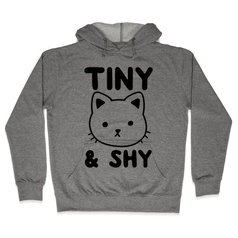 Tiny & Shy Cat Hooded Sweatshirt