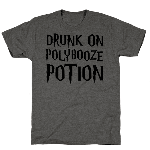 Drunk On Polybooze Potion Parody Mens T-Shirt