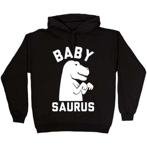 Baby Saurus Girl Hooded Sweatshirt