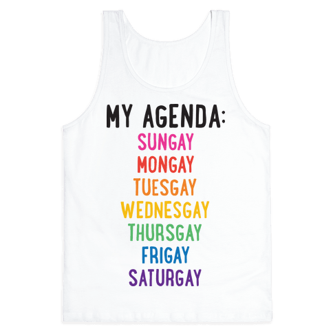 Gays of the Week Tank Top