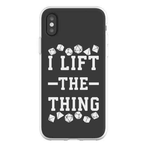 I Lift the Thing Phone Flexi-Case