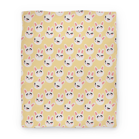 BunBun Pattern Yellow Blanket