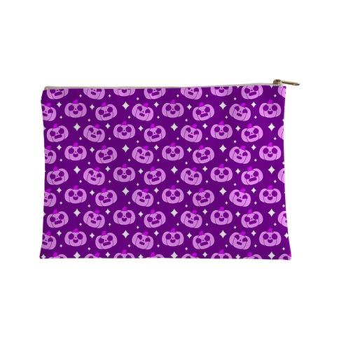 Kawaii Pumpkins Pattern Purple Accessory Bag
