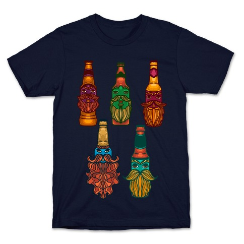 Beers With Beards Pattern T-Shirt