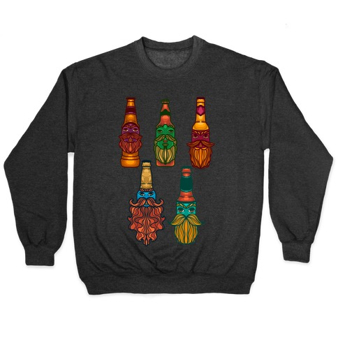 Beers With Beards Pattern Pullover