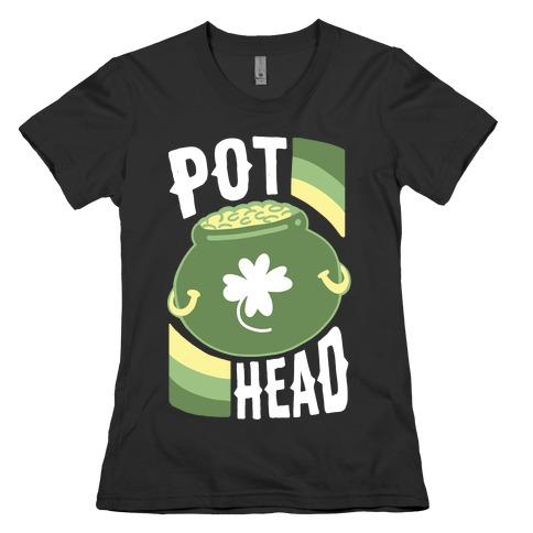 Pot Head - Pot of Gold Womens T-Shirt