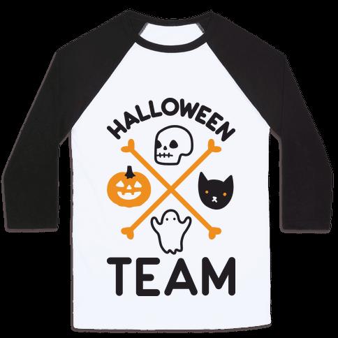 Halloween Team Baseball Tee
