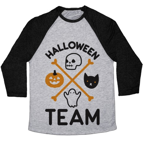 Halloween Team Baseball Tee