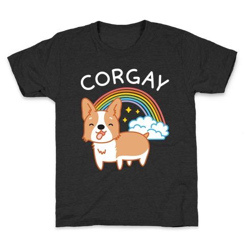 Corgay Gay Corgi Kids T-Shirt