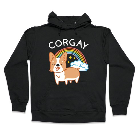 Corgay Gay Corgi Hooded Sweatshirt