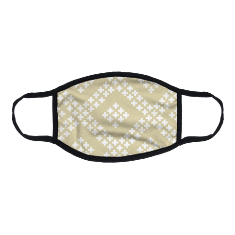 Little Cross Pattern Cream Flat Face Mask