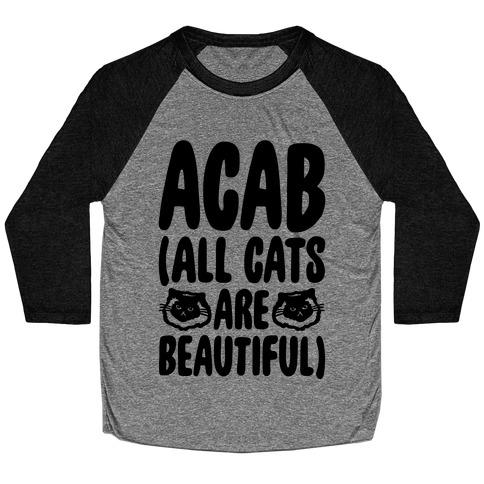 ACAB (All Cats Are Beautiful) Baseball Tee