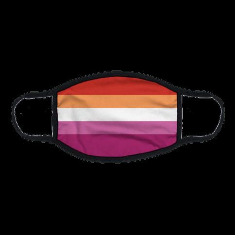 Lesbian Pride Flag Flat Face Mask