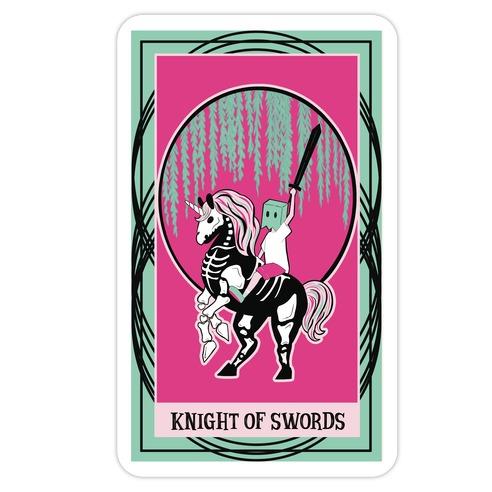 Creepy Cute Tarots: Knight of Swords Die Cut Sticker