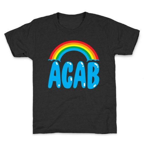 ACAB White Print Kids T-Shirt